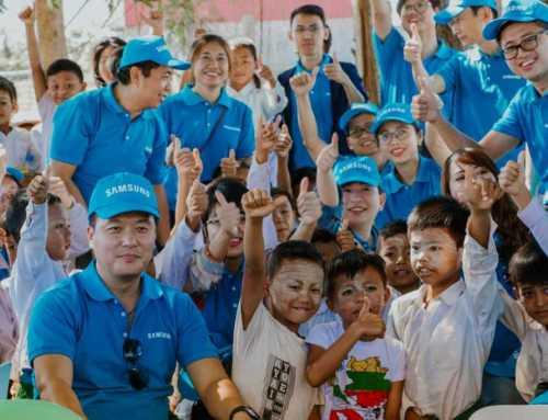 Samsung Employee Volunteer Program 2019 အား အင်းလေးကန်အနီးရှိ ထောင့်ကွေး အခြေခံပညာမူလတန်း (လွန်) ကျောင်းတွင် ကျင်းပ