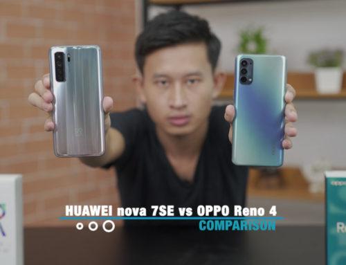 HUAWEI nova 7 SE နဲ့ OPPO Reno4 တိုရဲ့ Comparison ဗီဒီယို