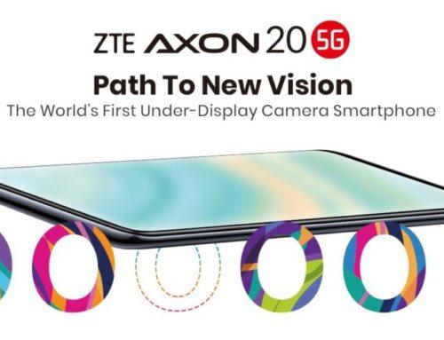 မျက်နှာပြင်အောက် ကင်မရာပါတဲ့ ကမ္ဘာ့ပထမဆုံးဖုန်း ZTE Axon 20 5G ကို နိုင်ငံတကာမှာ ရောင်းပြီ